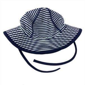 Hanna Andersson XS Navy Stripe Swim Sun Hat